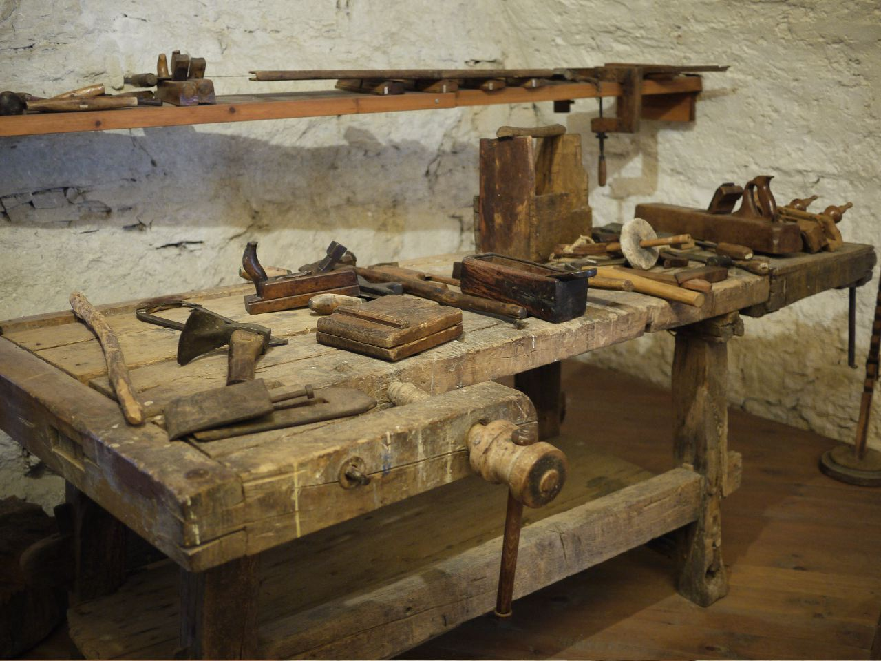 Old Woodworking Tools In The Castle